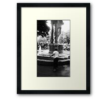 Tossing Coins  Framed Print
