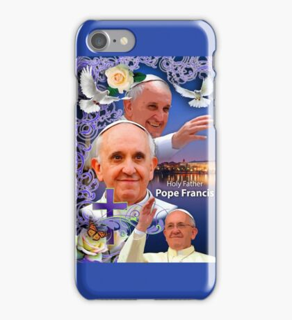 Pope Francis Headshot 6 iPhone Case/Skin
