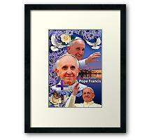 Pope Francis Headshot 6 Framed Print