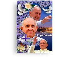 Pope Francis Headshot 6 Canvas Print