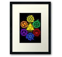Legend of Zelda - Ocarina of Time - The 6 Sages Framed Print