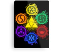 Legend of Zelda - Ocarina of Time - The 6 Sages Metal Print