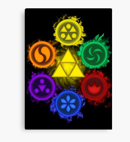 Legend of Zelda - Ocarina of Time - The 6 Sages Canvas Print
