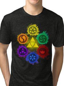 Legend of Zelda - Ocarina of Time - The 6 Sages Tri-blend T-Shirt