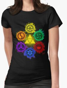 Legend of Zelda - Ocarina of Time - The 6 Sages Womens Fitted T-Shirt