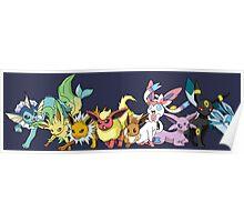 pokemon eevee espeon umbreon glaceon vaporeon jolteon flareon sylveon leafeon anime manga shirt Poster