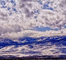 Truckee Meadows & Sierra Nevadas in snow by Ellen  Holcomb