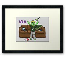 PeteZahHutt, Go Packers! Framed Print