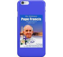 Pope Francis Headshot 7 iPhone Case/Skin