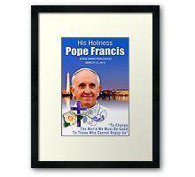 Pope Francis Headshot 7 Framed Print