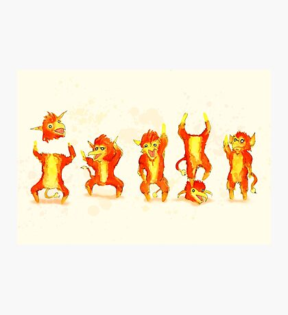 Fire Gang Photographic Print