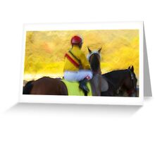 Last Race of the Day Greeting Card