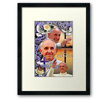 Pope Francis Headshot 9 Framed Print
