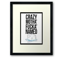 Ice Cube Black Framed Print