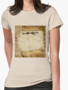 rustic,grunge,vintage,parcel,paper,brown,ribbon,cute,girly,shabby,chic,template T-Shirt