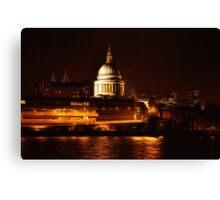 St Paul's By Night (London, UK) Canvas Print