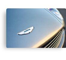 Aston Martin Emblem Logo Detail Canvas Print