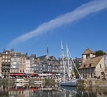 The Old Harbour at Honfleur, Normandy by Alex Cassels