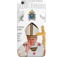 His Holiness Pope Francis 2015-prayer card with doves version 5 iPhone Case/Skin