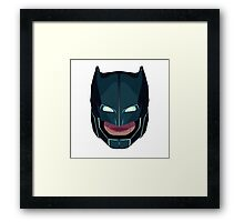 batman vs superman mask Framed Print
