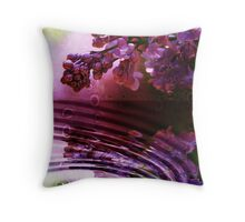 Moisture Drips From The Lilac    Throw Pillow