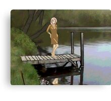 Becca @ Jordan Pond 2 Canvas Print