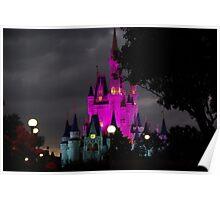 Magic Kingdom Castle at Night Poster