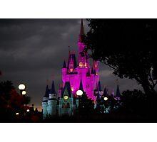 Magic Kingdom Castle at Night Photographic Print