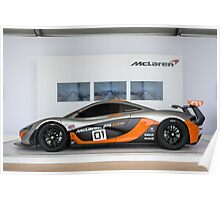 McLaren P1 GTR Side Profile Poster