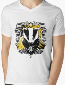 H Crest Mens V-Neck T-Shirt