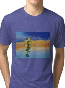 Evening Primrose at Sunset Tri-blend T-Shirt