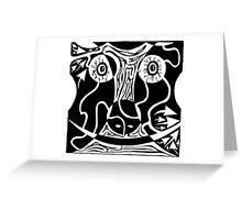 Bull Charging Rorschach Greeting Card