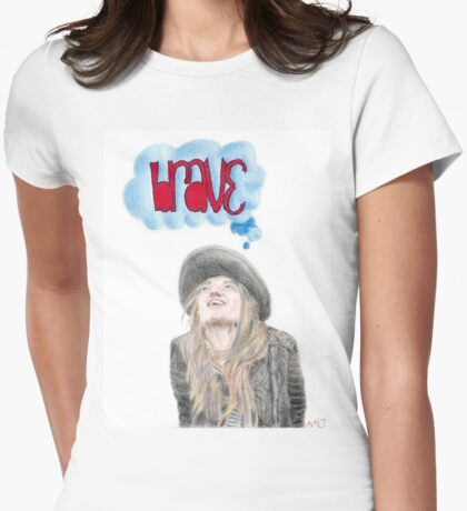 Brave (Featuring Sara Bareilles) Womens Fitted T-Shirt