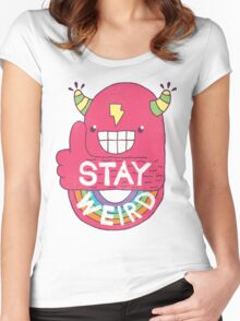 STAY WEIRD! Women's Fitted Scoop T-Shirt
