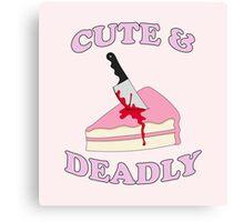 Cute & Deadly Canvas Print