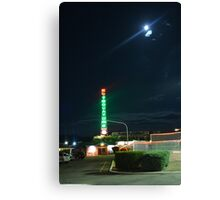 Motel in the moonlight Canvas Print