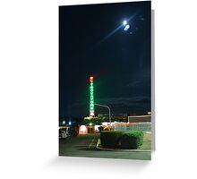 Motel in the moonlight Greeting Card