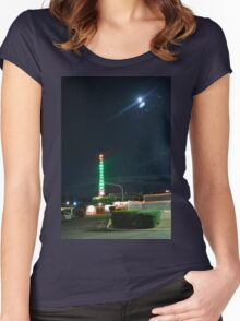 Motel in the moonlight Women's Fitted Scoop T-Shirt