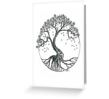 Abstract Cherry Blossom Tree Greeting Card