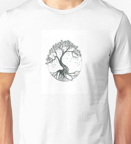 Abstract Cherry Blossom Tree Unisex T-Shirt