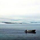 Boat in Fog, Deer Isle by fauselr