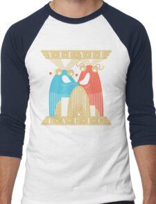 Yip-Yip Discover Radio! Men's Baseball ¾ T-Shirt