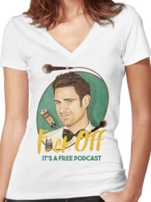 Wil Anderson - F*ck Off it's a Free Podcast (T-shirts, etc) Women's Fitted V-Neck T-Shirt
