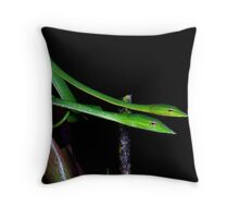 Ahaetulla nasuta pair Throw Pillow