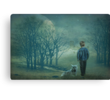 The boy who cried wolf Canvas Print