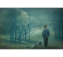 The boy who cried wolf Photographic Print