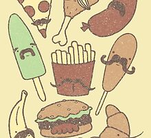 FOOD...WITH MUSTACHES, YAY!!! by BeanePod