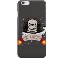 SPACE PUPPY HAZ A ROCKET! iPhone Case/Skin