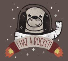 SPACE PUPPY HAZ A ROCKET! One Piece - Short Sleeve
