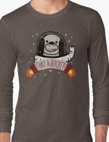 SPACE PUPPY HAZ A ROCKET! Long Sleeve T-Shirt